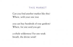 Rumi This Market Poem